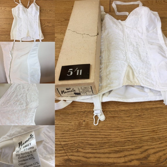 1960s corselette shapewear suspenders boxed unused