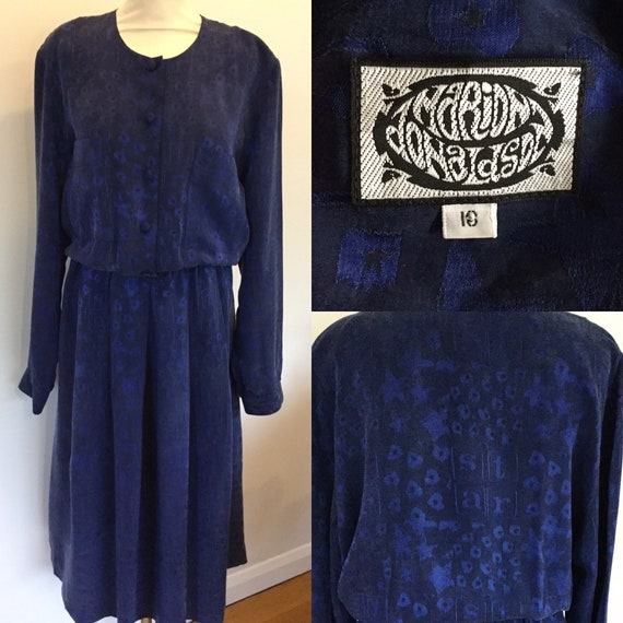 1980s dress by Marion Donaldson size 18