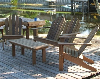 Ipe Adirondack patio set.