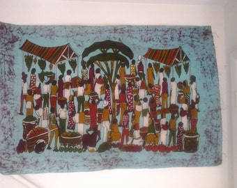 African Food Market Batik
