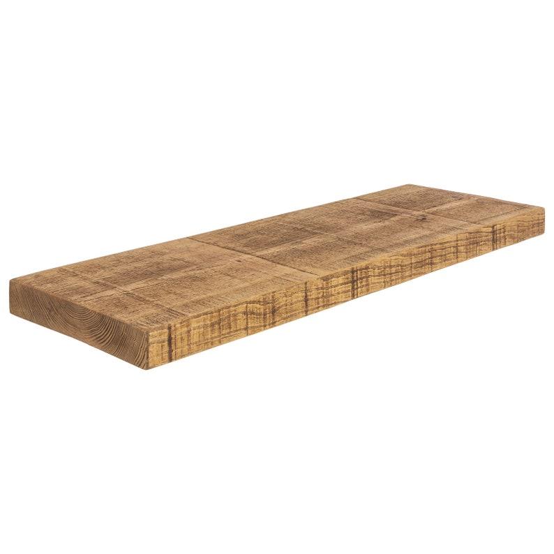Planken Voor Aan De Wand.Rustieke Zwevende Planken Diep Massief Houten Wand Plank Etsy