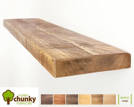 Zwevende Wandplank Hout.Rustieke Zwevende Planken Massief Houten Wand Plank 22 5cm Etsy