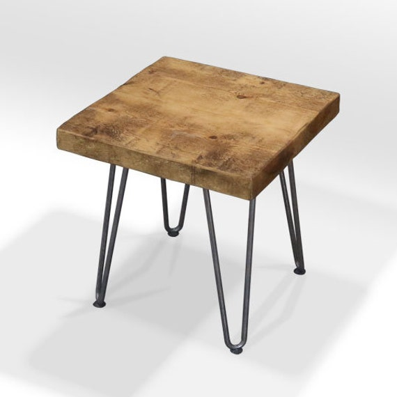 Hairpin Leg Coffee Table.Arbeia 2 Inch Top Hairpin Leg Side Table Rustic Side Table With Hairpin Legs