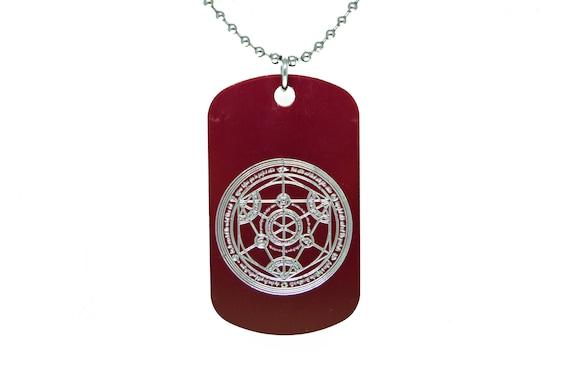 Fullmetal Alchemist Dog Tag Fma Logo Necklace