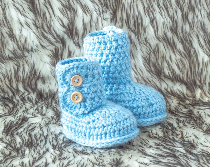 Baby boy booties, Infant booties, Booties in a box, Crochet baby booties, Preemie boy booties, Newborn boy booties, Pregnancy Announcement