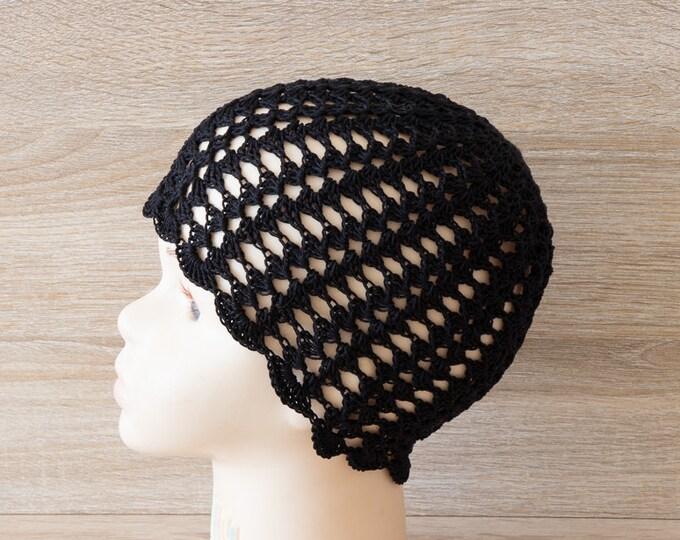 Black hat, Summer beanie, Crochet hat, Crochet beanie, Black Summer hat, Toddler girl hat, Baby girl hat, Women Hat, Black Crochet Hat