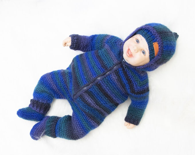 Baby boy coming home outfit, Baby Overall, hat and boots, Baby boy clothes, Baby boy outfit, Baby Romper, Hooded jumpsuit, Ready to ship
