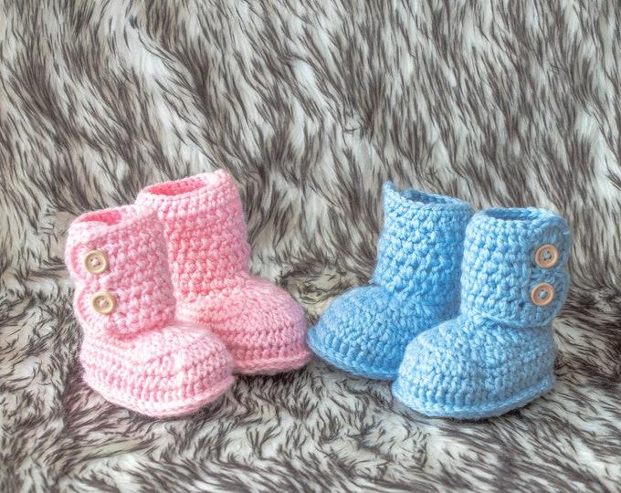 Boy Girl Twins Booties Twin baby Booties Crochet newborn booties Twin preemie gift Twin Pregnancy Announcement Pink and blue baby booties
