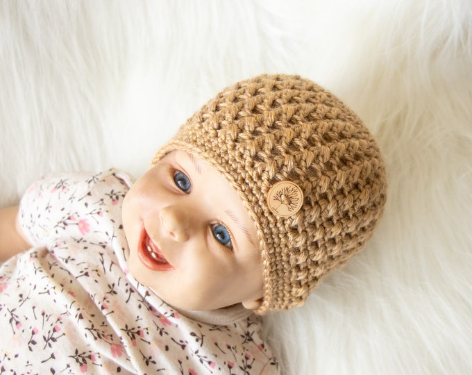 Baby beanie, Baby hat, Preemie hat, Neutral Baby Beanie, Gender neutral baby hat, Newborn hat, Crochet baby hat, Baby boy hat, Fall Beanie