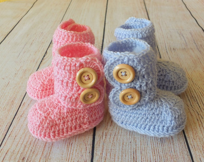 Twin baby Booties - Twins Baby Gift - Crochet Baby booties - Twin baby gift - Twins Booties - Twin Pregnancy Announcement - Boy Girl Twins