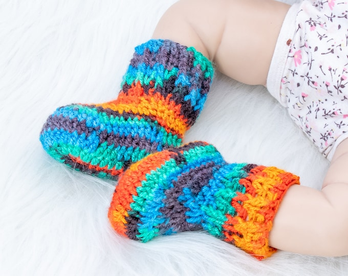 Crochet Baby socks, Baby booties, Baby shoes, Baby boy booties, Baby Gift, Infant socks, Newborn Baby Shoes, Newborns socks, Baby Boy Gift
