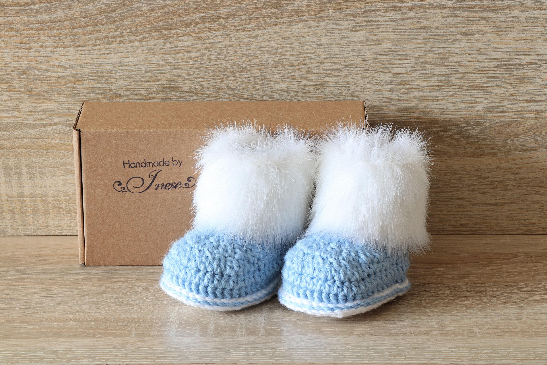 Baby Boy Booties Preemie Boy Clothes Fur Booties Baby Winter Boots