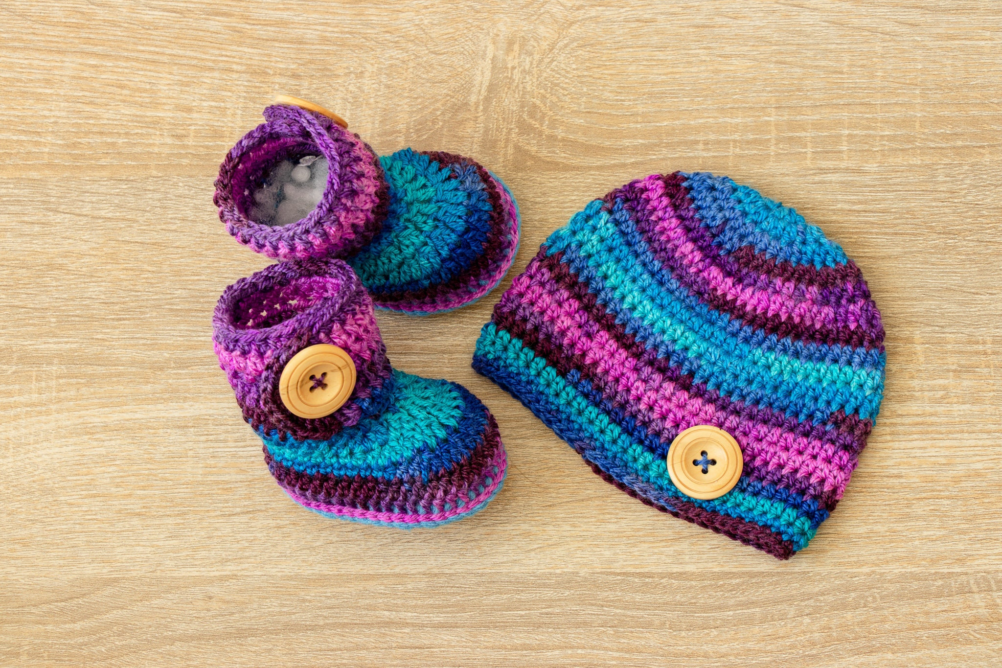 d4b12232d2e Baby boy Hat and booties set - Newborn hat and booties - Crochet ...