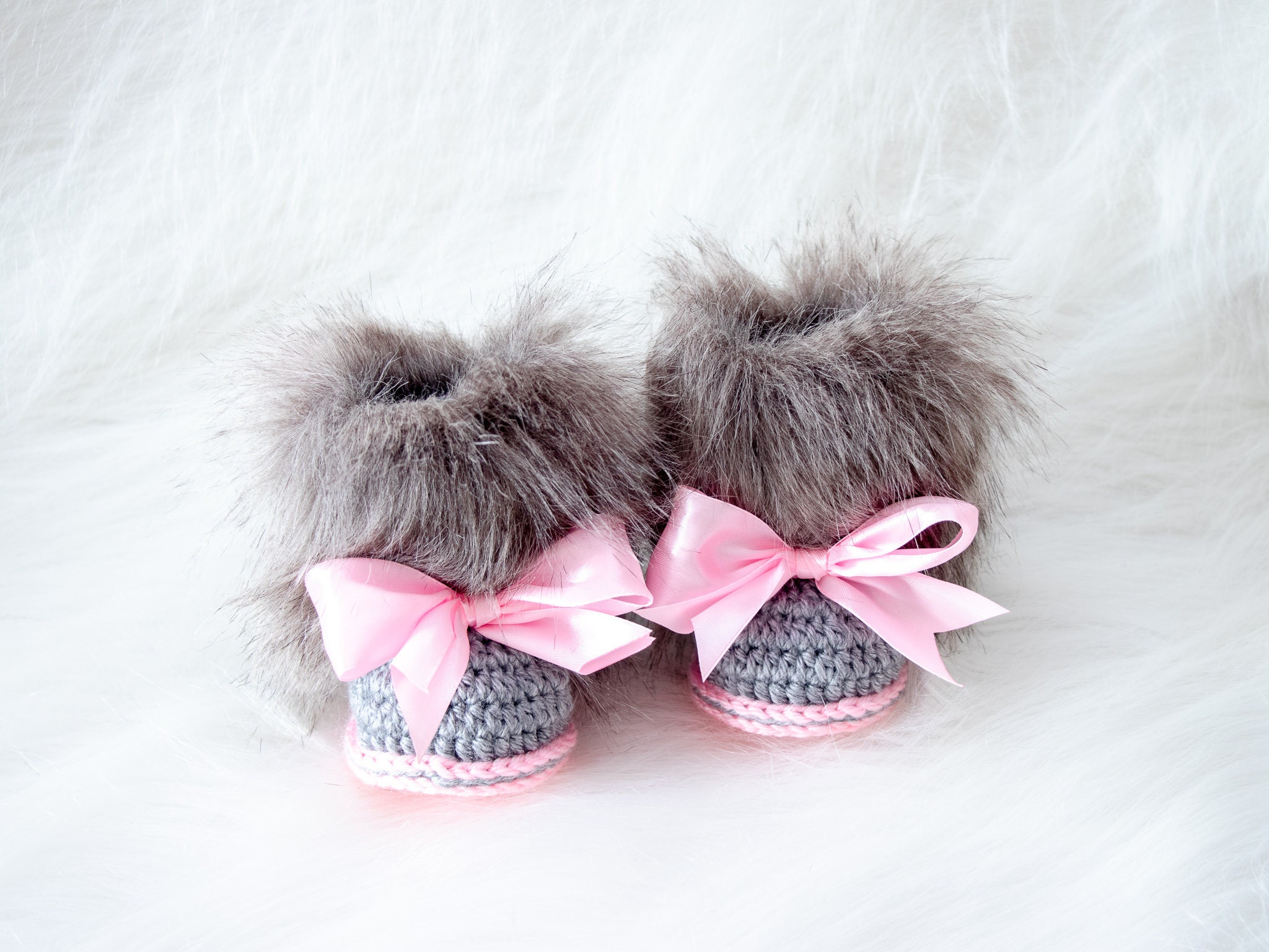Newborn Baby Girls Shoes Booties Sandals Handmade Crochet White Gift Idea