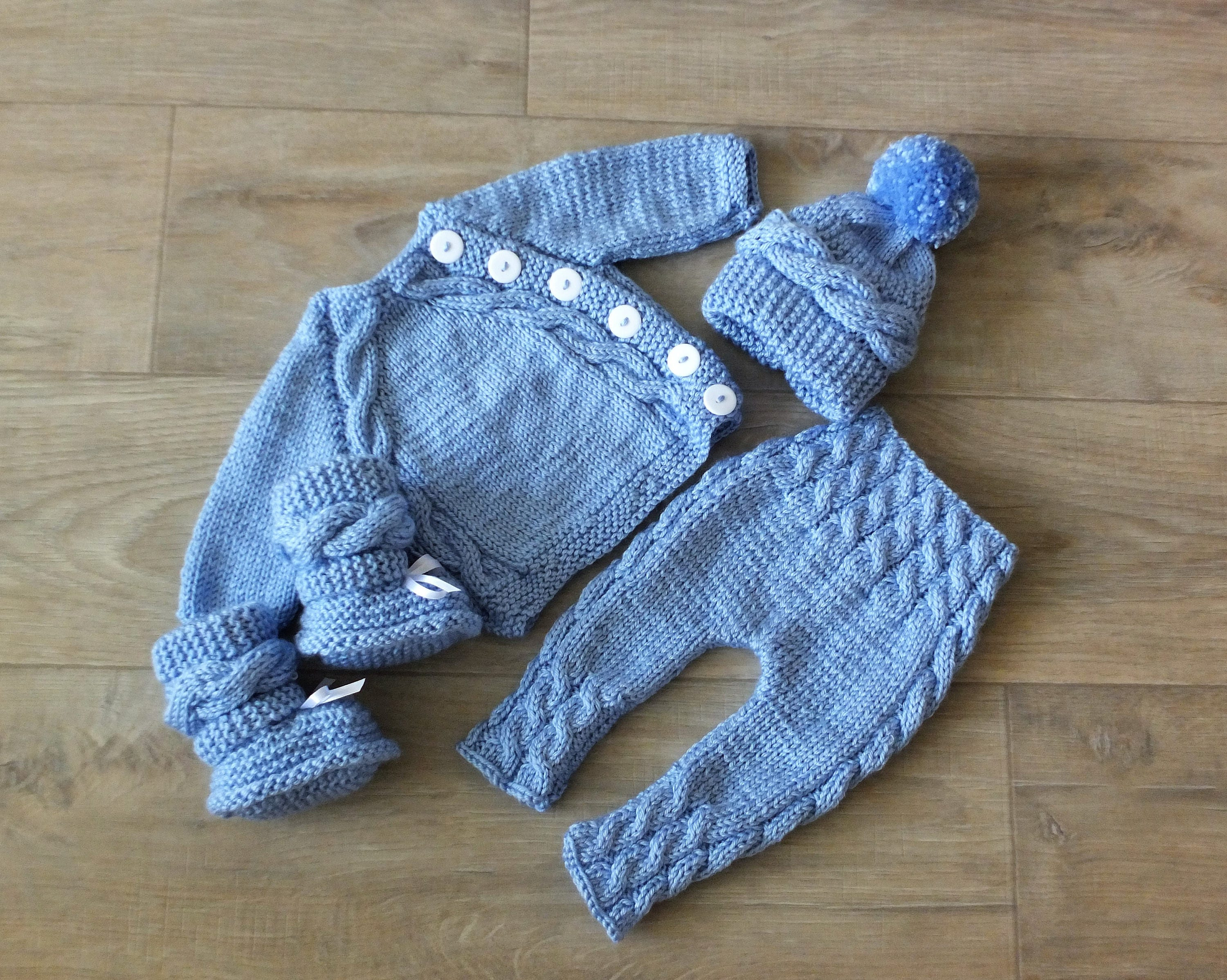 c1c9bfc8eb8 Knitted Baby boy coming home outfit Knit Baby Outfit