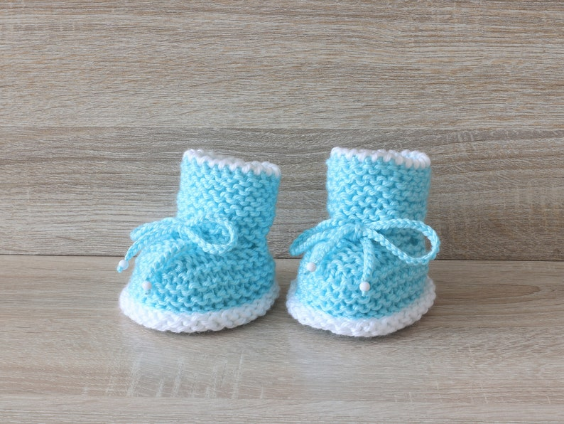 20f325880a3 Turquoise baby boots - Knitted Baby booties - Baby boy boots - Baby boy  gift - Newborn boy booties - Preemie booties - Stay-on booties