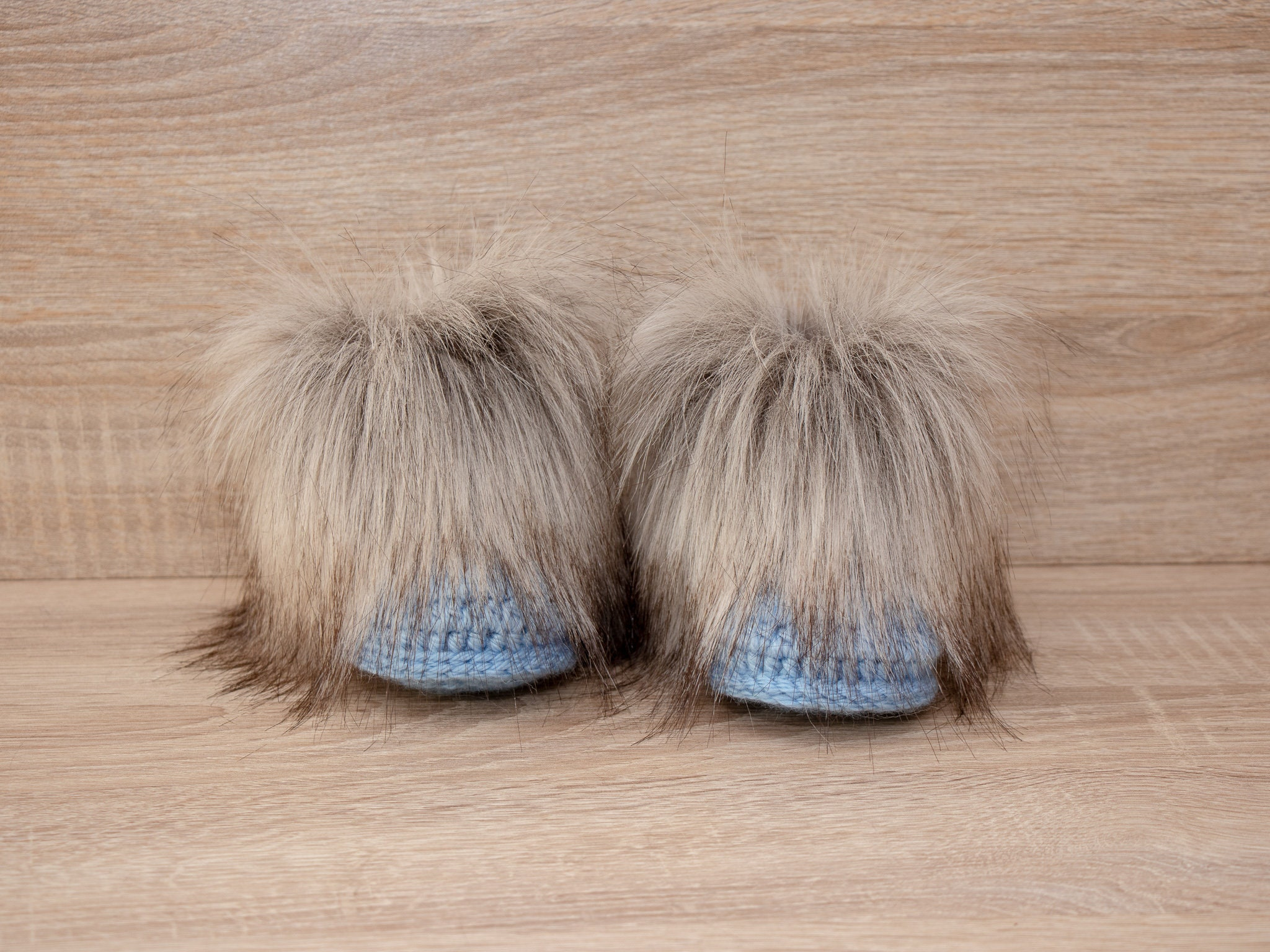 ce88457122e00 Baby boy boots - Faux fur booties - Crochet baby Booties - Baby boy ...