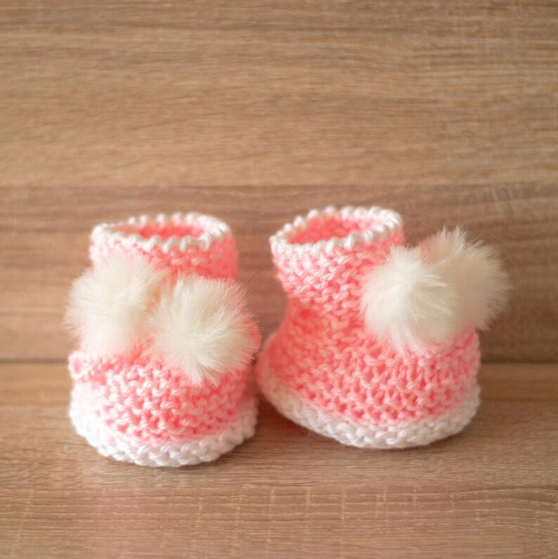 new product 341c1 20282 Pom Pom Schühchen - Baby Mädchen Schuhe - Rosa Schühchen - Hand gestrickte  Babyschuhe - Baby-Schuhe - Babyschuhe Mädchen Geschenk - Baby-Schühchen -  ...