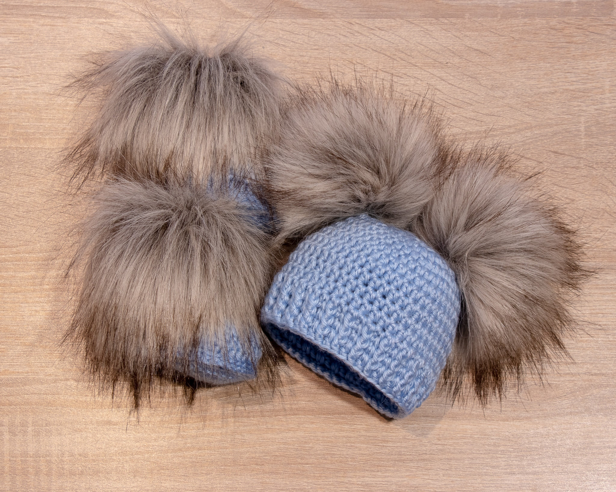 41b21e9d109 Baby Boy Booties and hat set - Fur double pom hat and booties - Baby ...