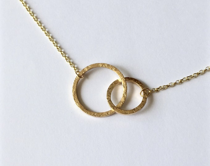 Featured listing image: Gold Linked Circles Necklace - 9 Carat Yellow Gold