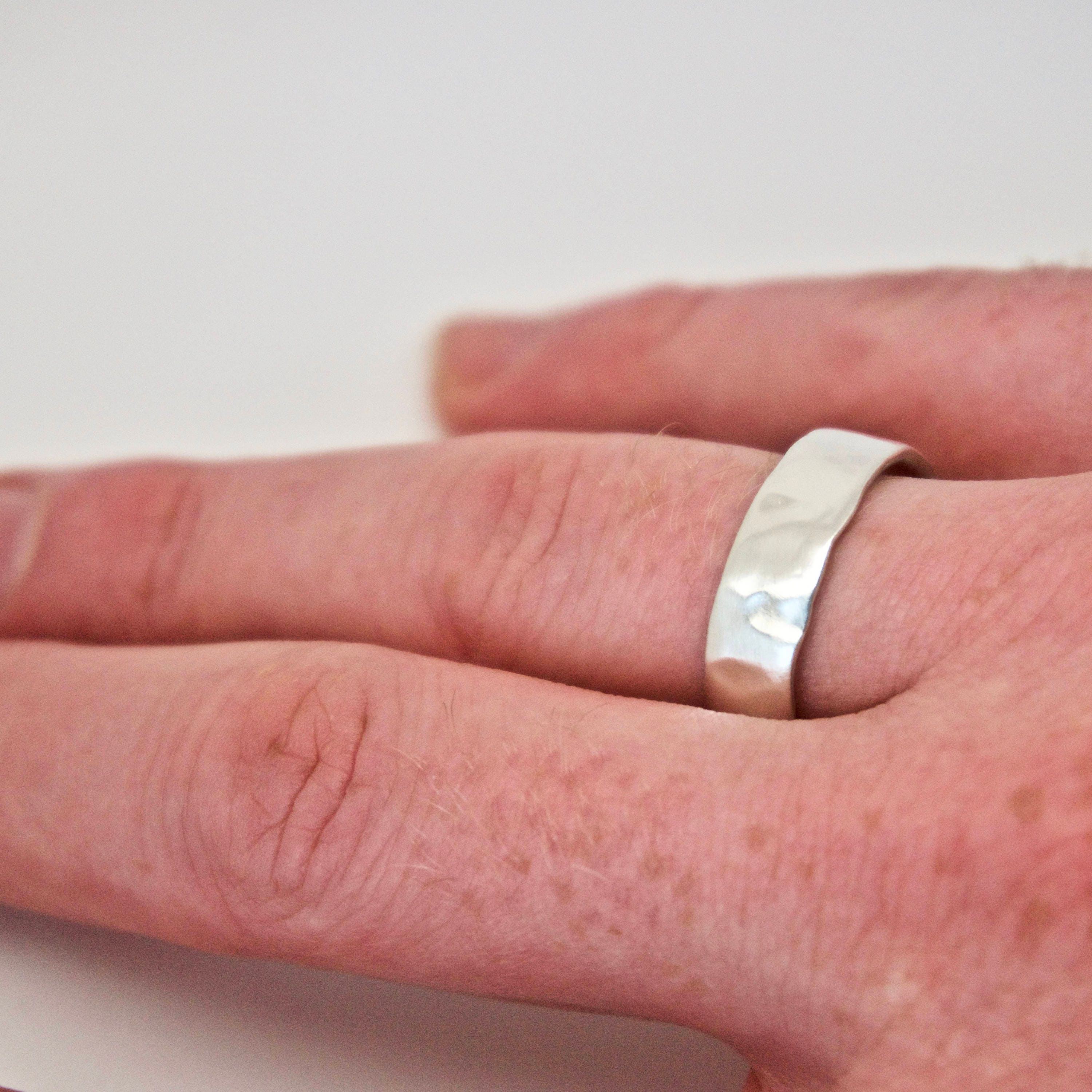 Molten Silver Ring - Recycled Sterling Silver