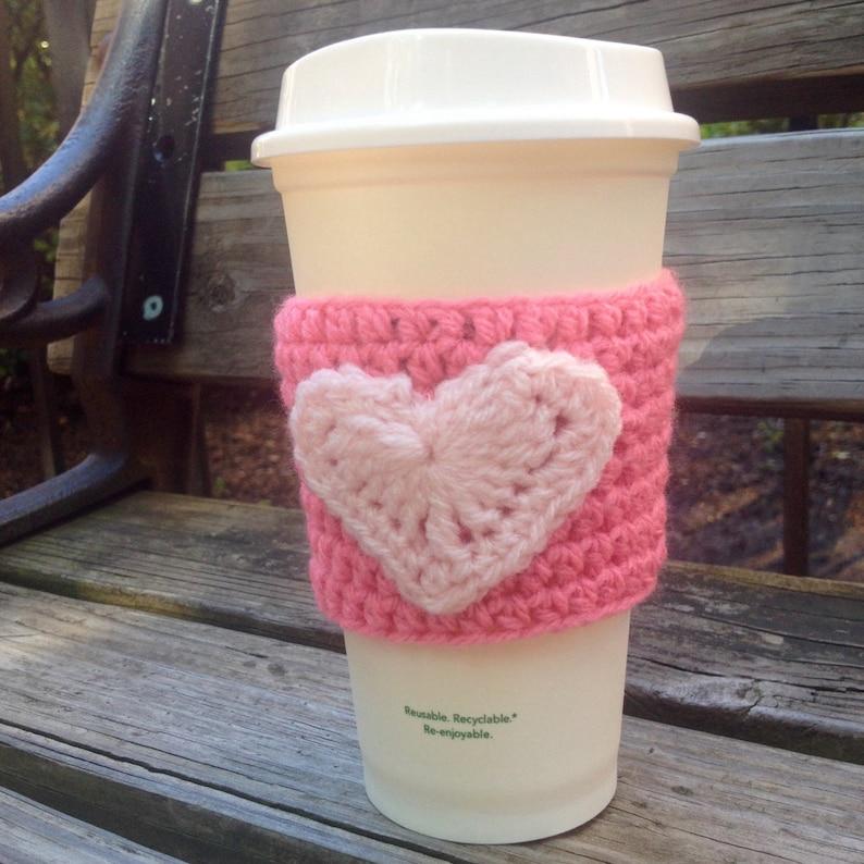 Valentine's Day Coffee Cozy Sleeve image 0