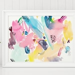 Colour Abstraction Print - Wall Decor, Colourful wall print, Watercolour, Watercolor art, Abstract Print