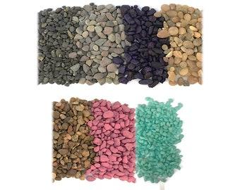 Terrarium Supplies-2 bags of Small Rocks for Terrariums-Natural Pebbles-Colored Rocks-Polished Rocks-Fairy Garden Supply-Wedding Supplies