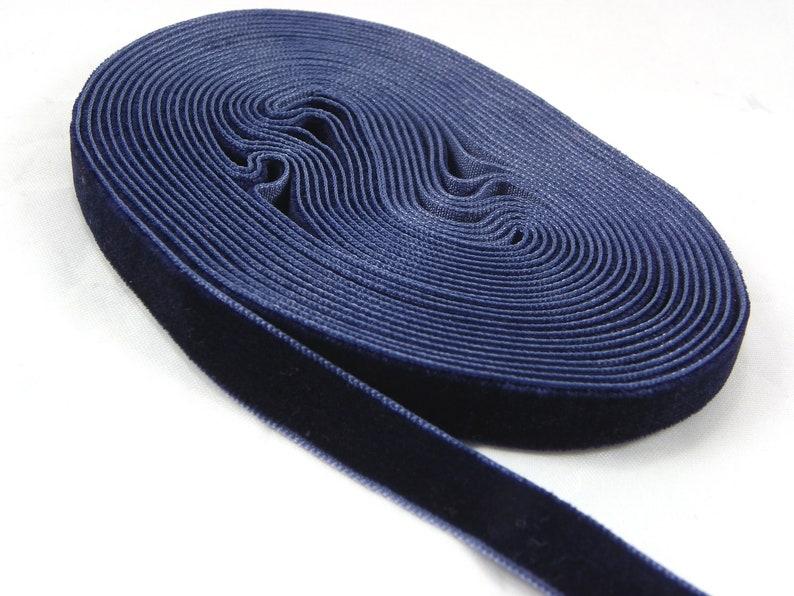 royal blue velvet ribbon 38 inch Black Velveteen Ribbon by the Yard Velveteen Ribbon 5 yards Dark Blue  10mm Wide Velvet Ribbon