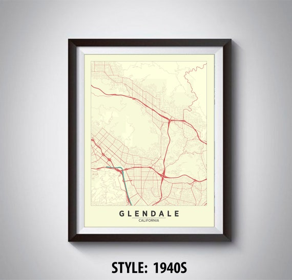 Map of Glendale, CA - Glendale Map - Glendale Poster - Office Décor Glendale Ca Map on mountain view ca map, cardiff by the sea ca map, los angeles ca map, tulsa ca map, fort worth ca map, newport harbor ca map, orlando ca map, industry hills ca map, fresno ca map, glendora ca map, solano beach ca map, hayward ca map, n hollywood ca map, conejo valley ca map, puente hills ca map, tucson ca map, las vegas ca map, burbank ca map, layton ca map, glendale california,