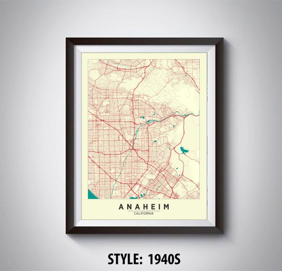 Map of Anaheim, CA - Anaheim Map - Anaheim Poster - Office Décor - Map Of Anaheim on map of crystal cathedral, map of orange, map of staples center, map of venice beach, map of pope valley, map of copperopolis, map of lawndale, map of thousand palms, map of east hollywood, map of willits, map of los angeles, map of el toro, map of little saigon, map of boulevard, map of fashion valley, map of downtown disney district, map of disneyland, map of leucadia, map of marin city, map of alpine meadows,