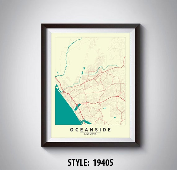 Map of Oceanside, CA - Oceanside Map - Oceanside Poster - Office Décor Map Oceanside Ca on oceanside mapquest, garden grove ca map, sylmar ca map, riverside ca map, madera ca map, carlsbad ca map, long beach ca map, vacaville ca map, oceanside california, oceanside city map, murrieta ca map, oceanside google maps, cypress ca map, victorville ca map, chicago ca map, san dimas ca map, camp pendleton ca map, oceanside street map, oceanside beach, del mar ca map,