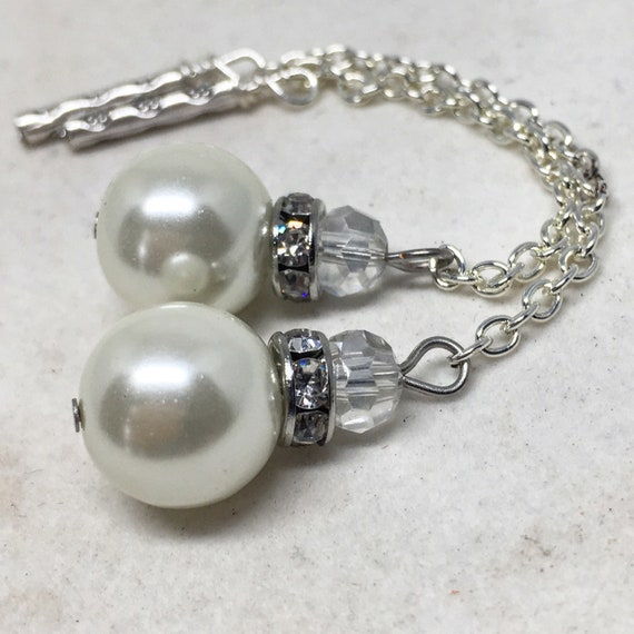 Details about  /Magnetic Tunnels ft Detachable Elegant Pearl /& Diamond Dangle/'s for Stretched E
