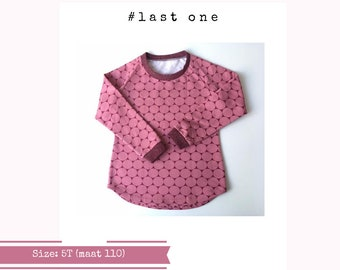 Last one: Pink sweater with big dots. long sleeve. Size 5T