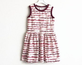 Tie dye girl's dress