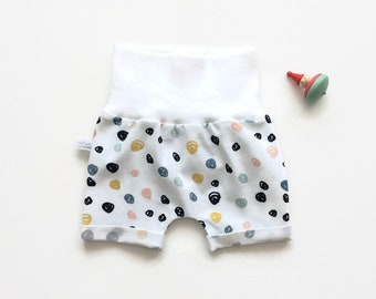 Baby or toddler shorts with colourful dots