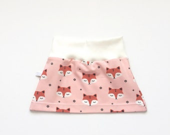 Organic baby or toddler skirt with sleepy foxes