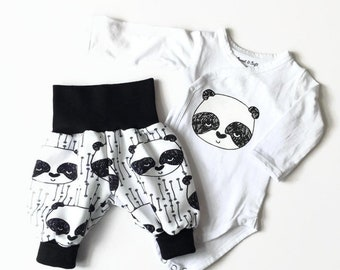 Newborn take home outfit set with pandas
