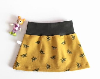 Yellow skirt with bees