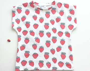 Baby or toddler shirt with strawberries