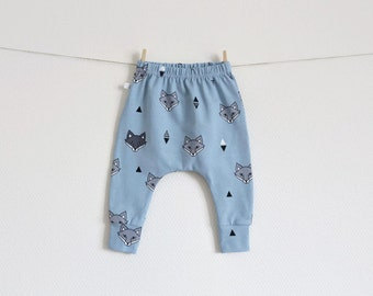 Light blue pants with foxes