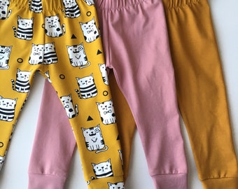 Baby harem pants. Size 18 - 24 months. Pink and yellow pants