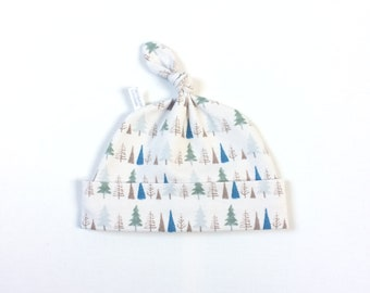 Cotton baby hat with trees