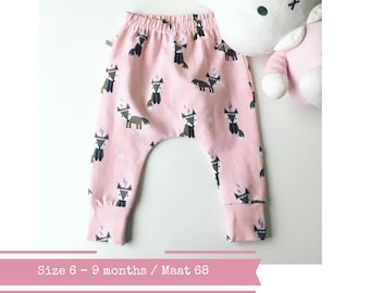 Last one: Baby harem pants with foxes. Size 6 months