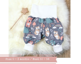 Grey bubble pants with big dots. Size 0 - 3 months