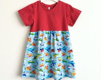 Girls dress with airplanes