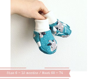 Soft baby booties with koalas. Size 6 - 12 months