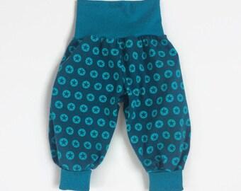 Petrol harem pants with stars