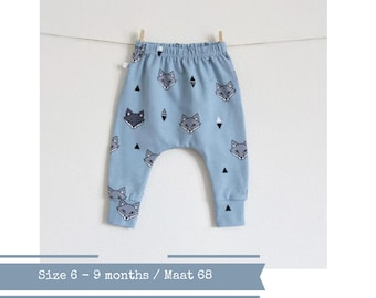 Baby harem pants with foxes. Size 6 months