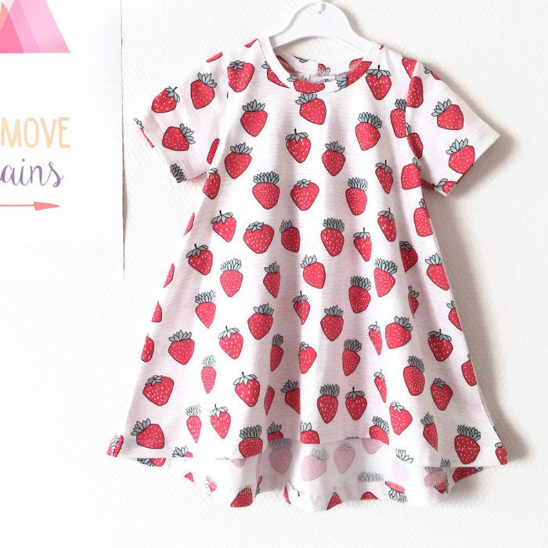 33925d3e517 Girl s tshirt dress with short sleeves. Summer dress.